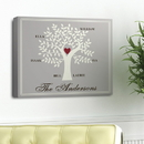 JDS Traditional-Contemporary Family Tree Canvas Print