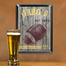 JDS Personalized Traditional Football Man Cave Pub Sign