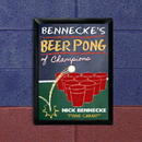 JDS Personalized Beer Pong Champion Traditional Pub Sign