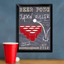 JDS Personalized Beer Pong Specialist Traditional Pub Sign