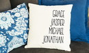 JDS QUAL1319 Personalized Family Names Throw Pillow Cover - Farmhouse