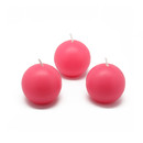 "Jeco CBZ-005 2"" Hot Pink Ball Candles (12pc/Box)"