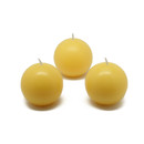 "Jeco CBZ-006 2"" Yellow Ball Candles (12pc/Box)"