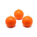 "Jeco CBZ-007 2"" Orange Ball Candles (12pc/Box)"