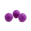 "Jeco CBZ-012 2"" Purple Ball Candles (12pc/Box)"