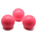 "Jeco CBZ-016 3"" Hot Pink Ball Candles (6pc/Box)"