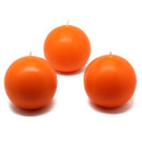 "Jeco CBZ-018 3"" Orange Ball Candles (6pc/Box)"