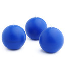"Jeco CBZ-020 3"" Blue Ball Candles (6pc/Box)"