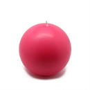 "Jeco CBZ-027 4"" Hot Pink Ball Candles (2pc/Box)"