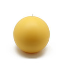 "Jeco CBZ-028 4"" Yellow Ball Candles (2pc/Box)"