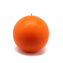"Jeco CBZ-029 4"" Orange Ball Candles (2pc/Box)"