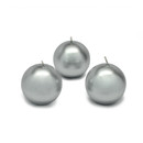"Jeco CBZ-036 2"" Metallic Silver Ball Candles (12pc/Box)"