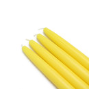 "Jeco CEZ-005 6"" Yellow Taper Candles (1 Dozen)"