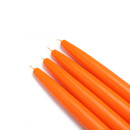 "Jeco CEZ-006 6"" Orange Taper Candles (1 Dozen)"