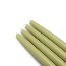 "Jeco CEZ-015 6"" Sage Green Taper Candles (1 Dozen)"