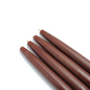 "Jeco CEZ-019 6"" Brown Taper Candles (1 Dozen)"