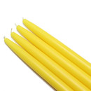 "Jeco CEZ-025_12 10"" Yellow Taper Candles (144pcs/Case) Bulk"