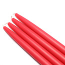 "Jeco CEZ-027 10"" Ruby Red Taper Candles (1 Dozen)"
