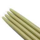 "Jeco CEZ-035 10"" Sage Green Taper Candles (1 Dozen)"