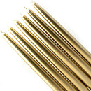 "Jeco CEZ-041 10"" Metallic Gold Taper Candles (1 Dozen)"