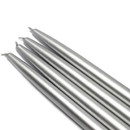 "Jeco CEZ-042 10"" Metallic Silver Taper Candles (1 Dozen)"