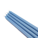 "Jeco CEZ-075 12"" Light Blue Taper Candles (1 Dozen)"