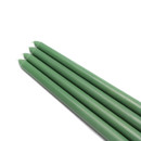 "Jeco CEZ-080 12"" Hunter Green Taper Candles (1 Dozen)"