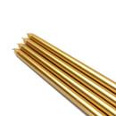 "Jeco CEZ-085_12 12"" Metallic Gold Taper Candles (144pcs/Case) Bulk"