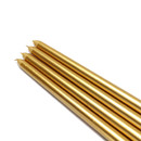 "Jeco CEZ-085 12"" Metallic Gold Taper Candles (1 Dozen)"
