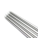 "Jeco CEZ-086 12"" Metallic Silver Taper Candles (1 Dozen)"