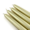 "Jeco CEZ-088 6"" Metallic Gold Taper Candles (1 Dozen)"