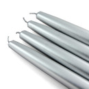 "Jeco CEZ-089 6"" Metallic Silver Taper Candles (1 Dozen)"