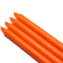 "Jeco CEZ-093 10"" Orange Straight Taper Candles (1 Dozen)"