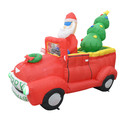 Jeco CHD-OD061 7Ft Santa In Red Trunk With Christmas Santa On Car