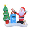 Jeco CHD-OD074 6.5FT L Inflatable Santa with Mailbox