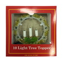 Jeco CHD-TA083C 10 Lite Tree Topper W/Candle-Clear Light
