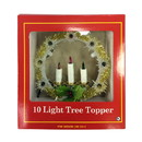 Jeco CHD-TA083M 10 Lite Tree Topper W/Candle-Multi Lights