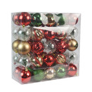Jeco CHD-TA149 50 Pk Christmas Ornament Holiday Cottage Dec Orn Set