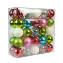 Jeco CHD-TA150 50 Pk Christmas Ornament Elegant Wonder Dec Orn Set