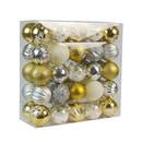 Jeco CHD-TA151 50 Pk Christmas Ornament Tinsel Town Dec Orn Set