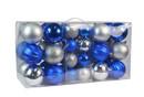 Jeco CHD-TA153 40Pk Christmas Ornament- Silver/Blue