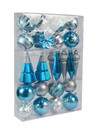 Jeco CHD-TA157 27Pk Christmas Ornament-Blue And Silver