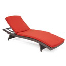 Jeco CL1-FS018_2 Brick Red Chaise Lounger Cushion (Set Of 2)