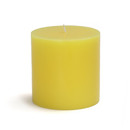 "Jeco CPZ-074 3 x 3"" Yellow Pillar Candle"