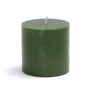 "Jeco CPZ-079 3 x 3"" Hunter Green Pillar Candle"