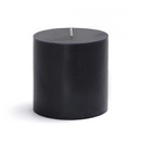 "Jeco CPZ-081 3 x 3"" Black Pillar Candle"