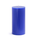 "Jeco CPZ-088 3 x 6"" Blue Pillar Candle"