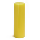 "Jeco CPZ-096_12 3 x 9"" Yellow Pillar Candles (12pcs/Case) Bulk"
