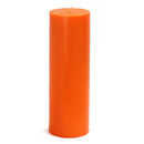 "Jeco CPZ-097 3 x 9"" Orange Pillar Candle"