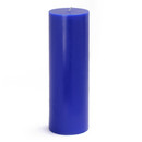 "Jeco CPZ-099 3 x 9"" Blue Pillar Candle"